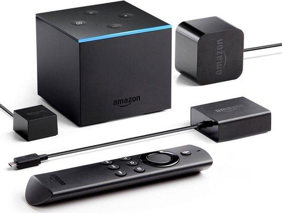 Amazon Fire TV Cube met afstandsbediening en opladers